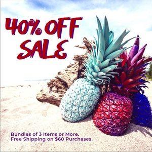 Bundle 3+ Items to get 40% Discount